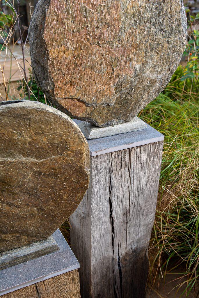 Basa sculpture on Weathered Oak Plinth