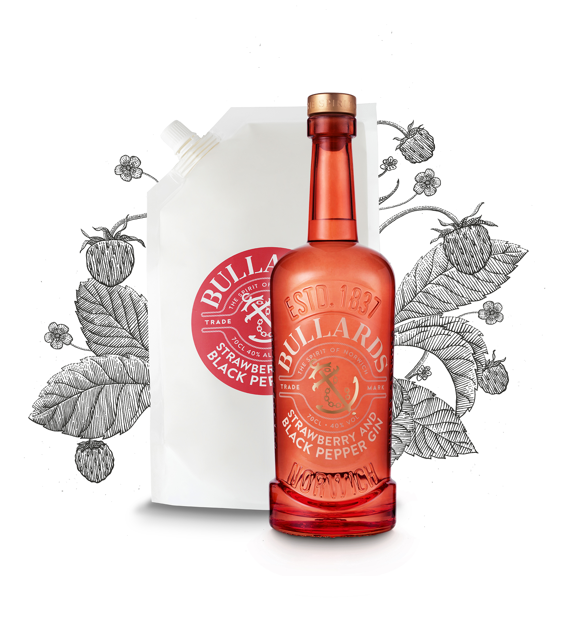 Strawberry and Black pepper Gin Bundle