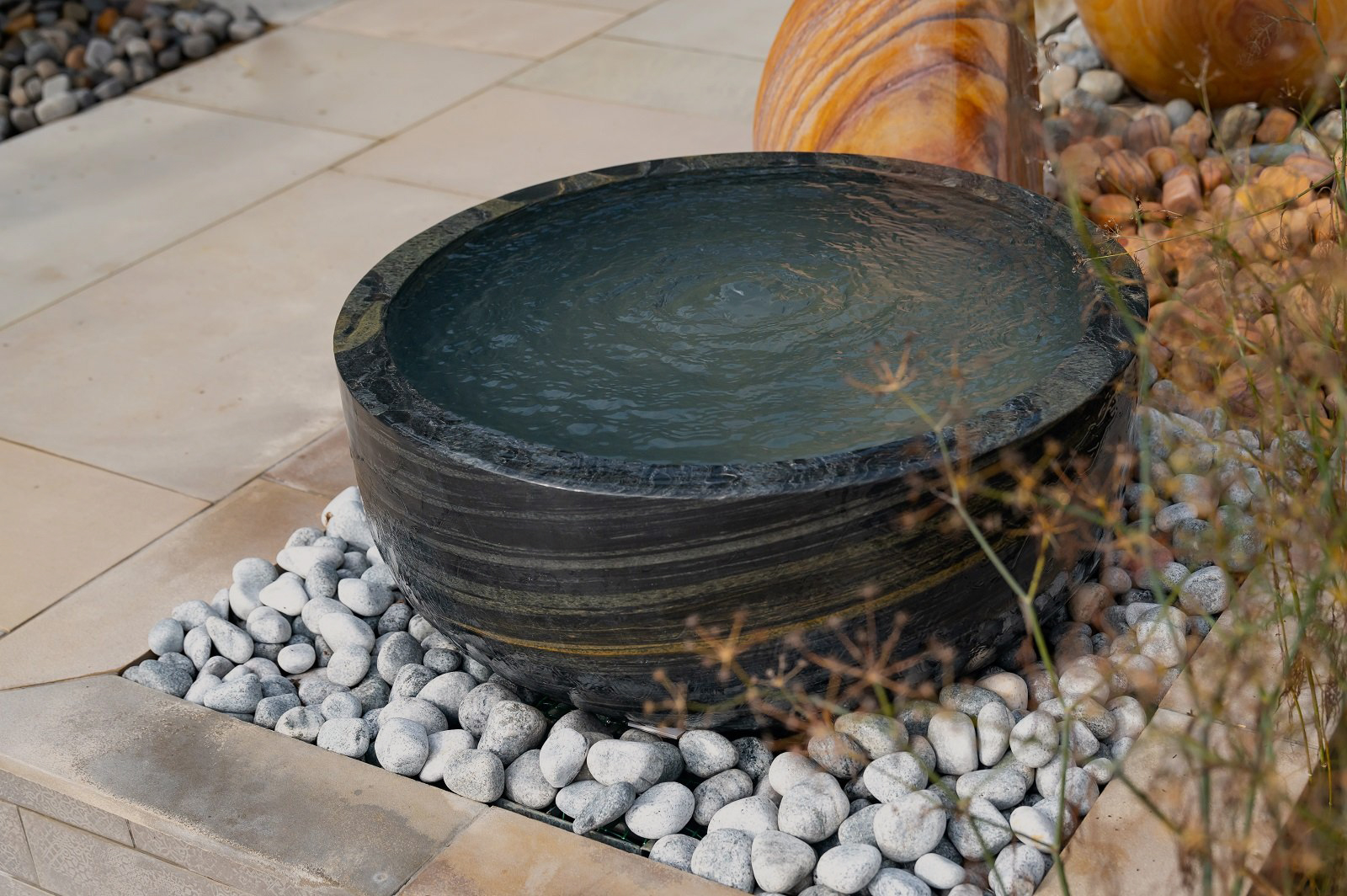 pure pewter water feature