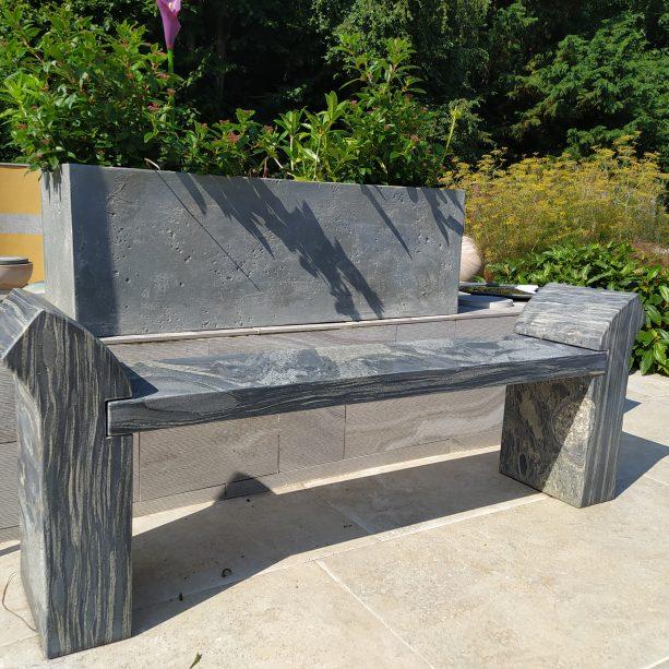 Pewter Strabo Bench